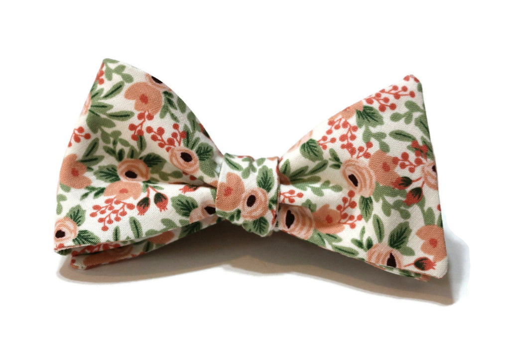 Rose Rosa Floral Bow Tie