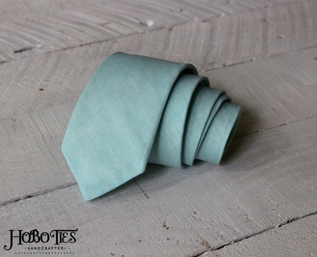 Mint Chambray Necktie