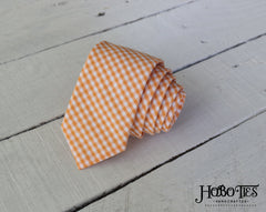Orange Gingham Necktie - Youth