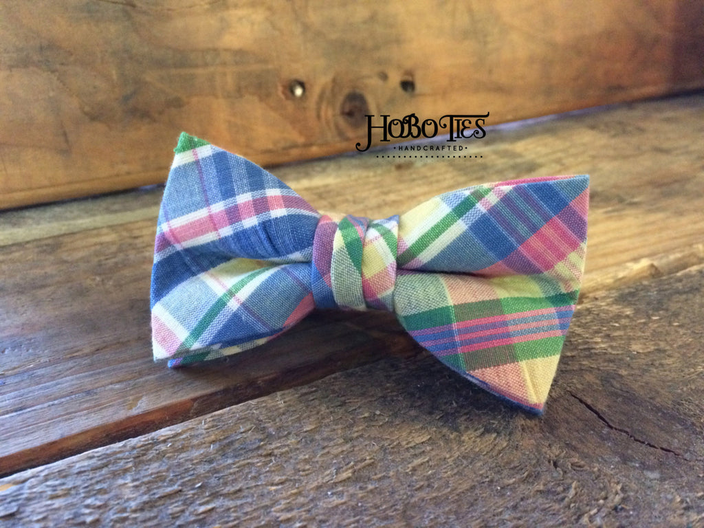 Easter Plaid Seersucker Bow Tie - Boys