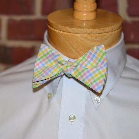 Easter Tattersall Bow Tie