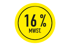 16% mwst button