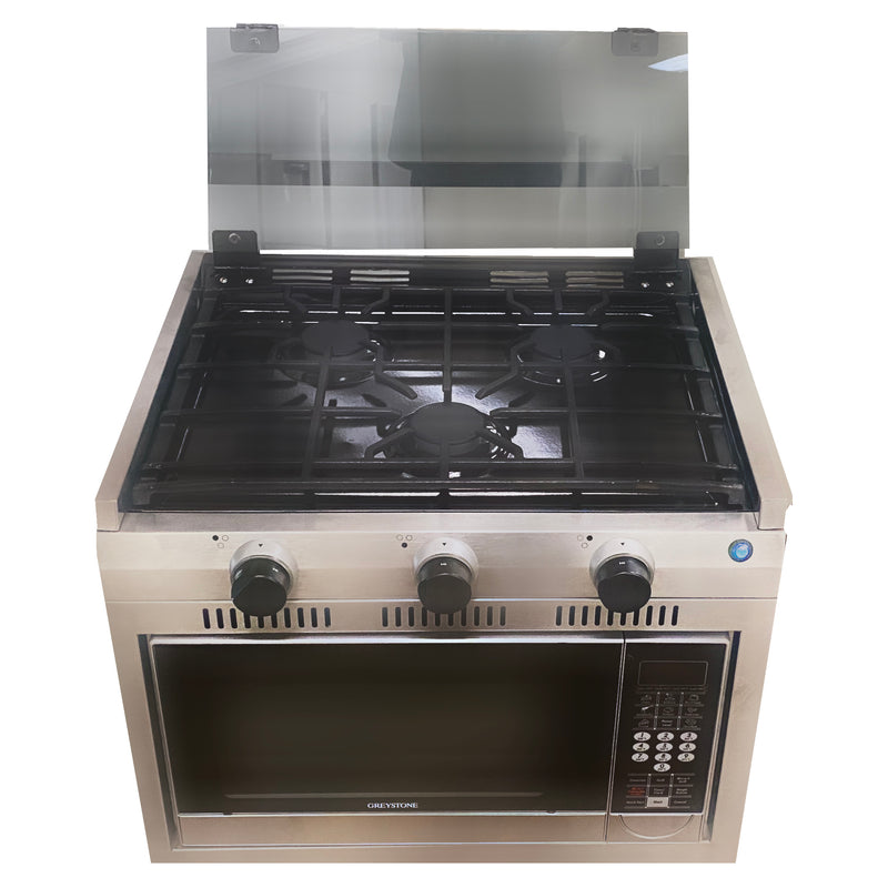 24 Inch High Output Burner & Convection Oven Range