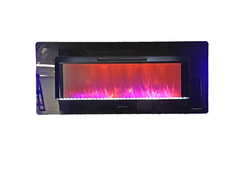 47 Inch Wall Mount Fireplace with Crystals