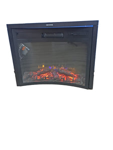 "26"" LED Greystone reverse curve fireplace"