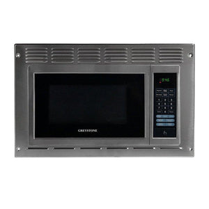 ".9 cu ft ""Greystone"" stainless steel microwave"