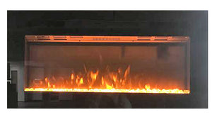 "36"" ""Greystone"" LED Black glass wall mount fireplace"