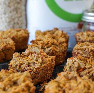 Carrot Cake Muffins (No Oil & Gluten-Free)