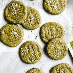 Matcha green tea & coconut cookies