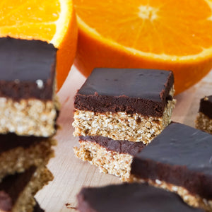 Vanilla Orange-Chocolate Bars (No Bake)