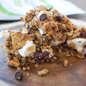 Oatmeal S'mores Cookie Bars (Vegan + 3 layers)