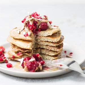 Fluffiest Vegan Protein Pancakes