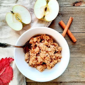 Apple & Caramel Crumble (ready in 10 minutes)