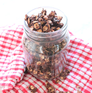 Chocolate Peanut Butter Granola (Oil-Free)
