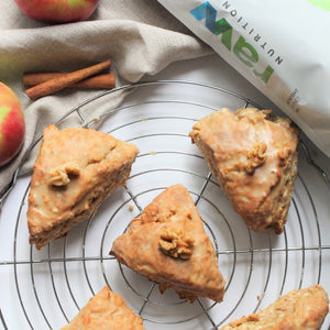 Maple-Glazed Apple & Caramel Scones