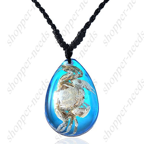 Crystal Real Sea Life Amber Women Necklace Gift idea - Shopper Needs