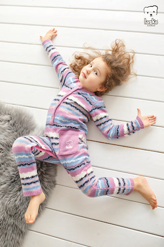 Knitted overall stripes - Laska Kidswear