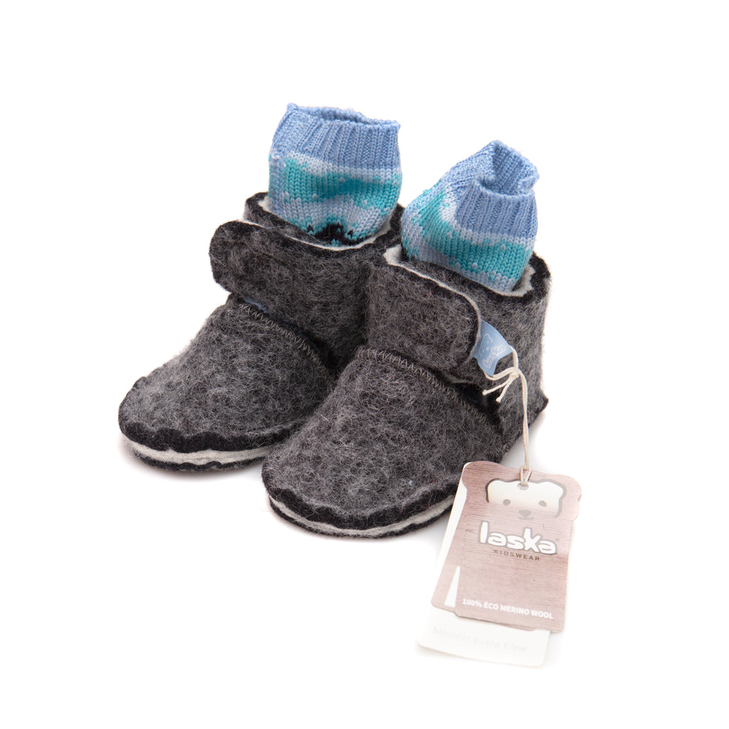 Wool booties - Laska Kidswear