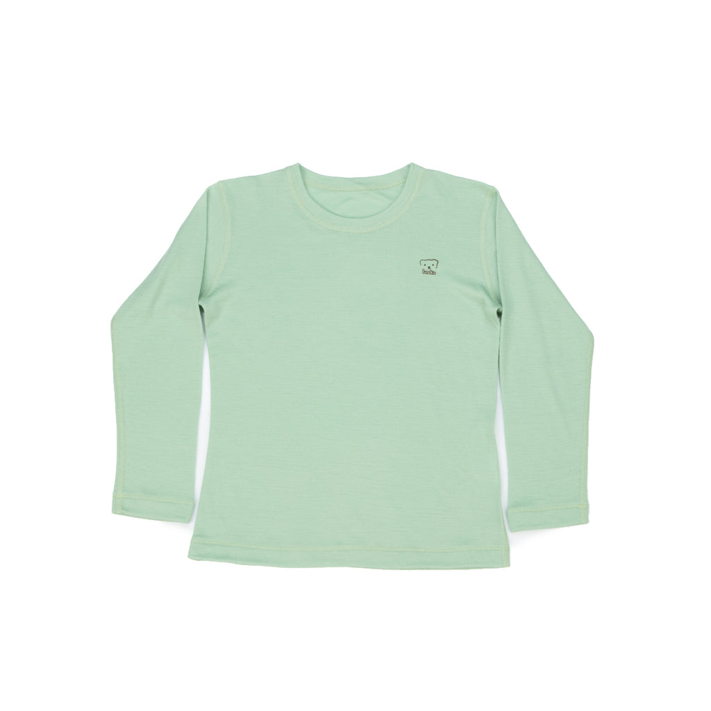 T-SHIRT BASIC LONG SLEEVE merino wool - Laska Kidswear