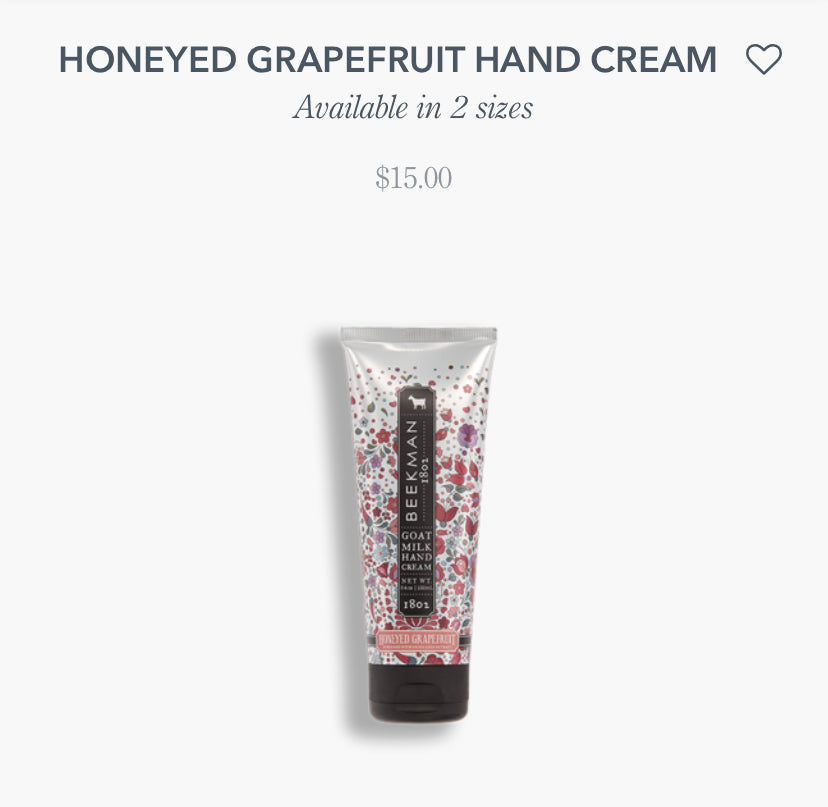Beekman- Honeyed Grapefruit Hand Cream