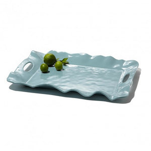 Beatriz Ball- VIDA Havana Aqua Rectangular Tray with Handles