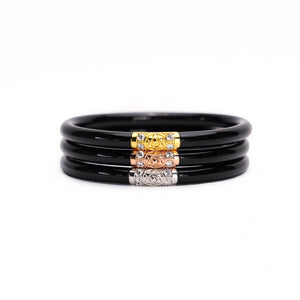 BuDhaGirl Three Kings All Weather Bangles-Black