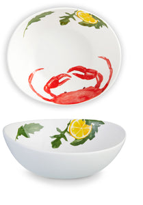 Seafood Collection- Crab Bowls Set of 2
