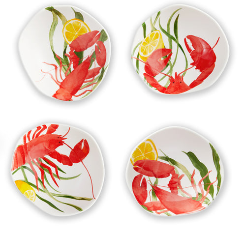 Seafood Collection- Crawfish Dipping Bowls (Set of 4)