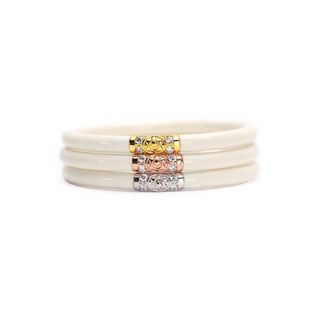 BuDhaGirl Three Kings All Weather Bangles-Ivory