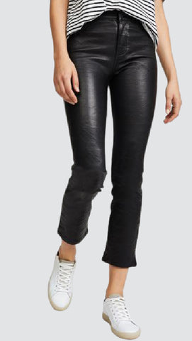 Dahlia Crop Straight Leather Pants