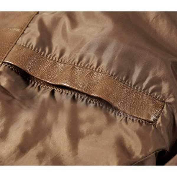 Titan Stylish Zipper Pockets Leather Jacket