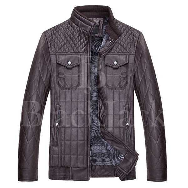 Black Fold Metal Coat Leather Jacket|BlackJack Leathers