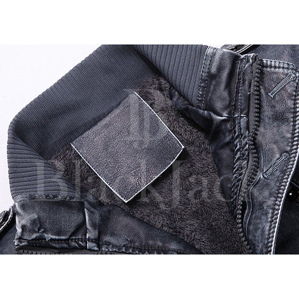 Biker's leather belt thick Jacket|BlackJack Leathers
