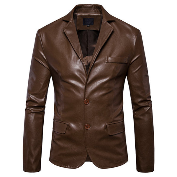 Solid Colour Synthetic Leather Jacket|BlackJack Leathers