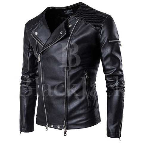 Zipper Black Sheep Leather Jacket|BlackJack Leathers