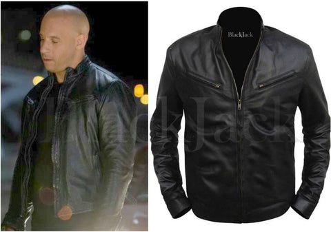 Fast And Furious VIN Diesel Leather Jacket| Black Jack Leathers