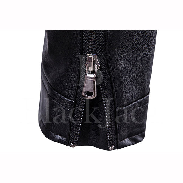 Button Stand Collar Leather Jacket|BlackJack Leathers