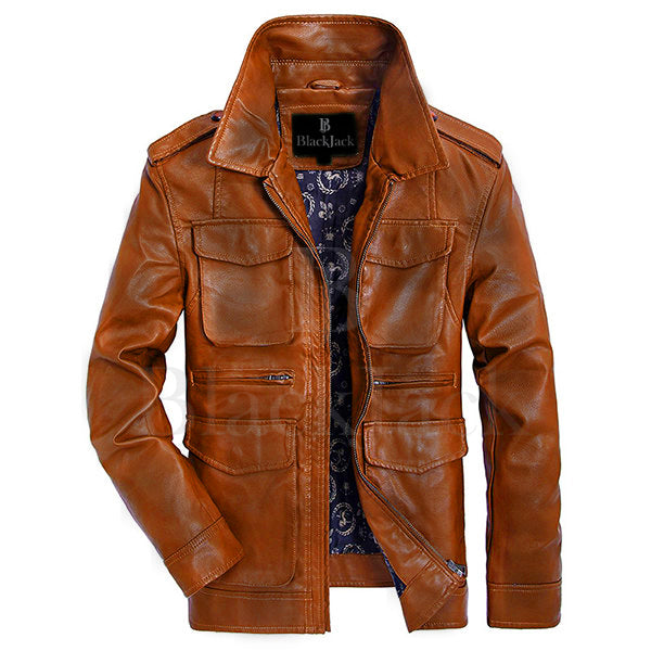 Waxed Slim Fit Sheep Leather Jacket|BlackJack Leathers