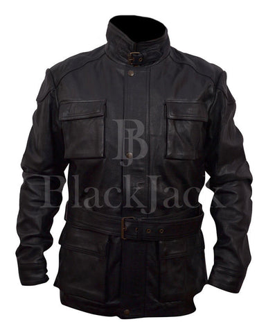Batman Banes Black Leather Jacket|BlackJack Leathers