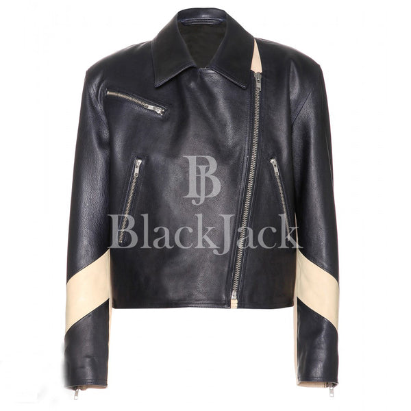 Jossete Biker Sheep Leather Jacket|BlackJack Leathers