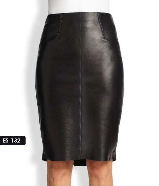 Supremely Sleek Pencil Leather Skirt