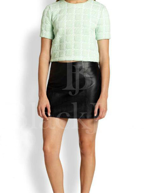 Mini Leather Skirt