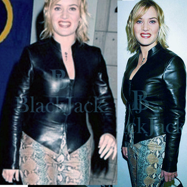 Kate Winslet Leather Jacket|BlackJack Leathers