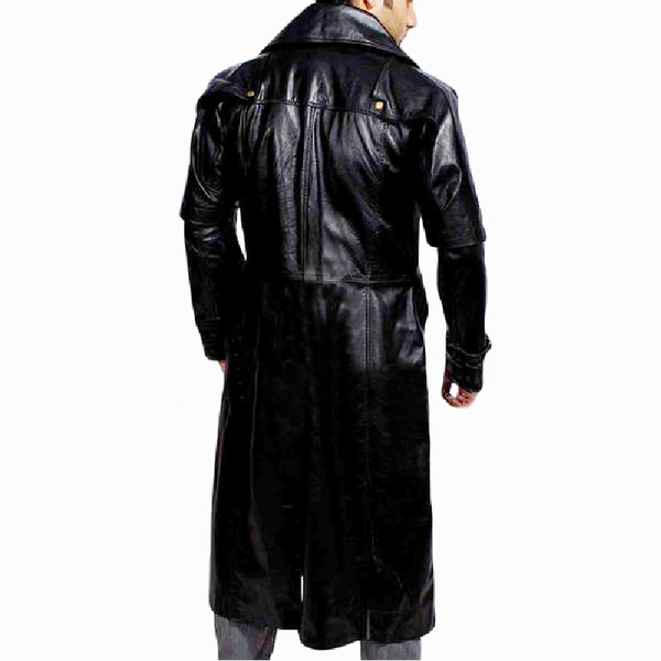 Try Huntsman Shinny Leather Trench Coat