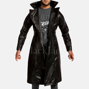 Dracullum Black Natural Sheep Leather Coat