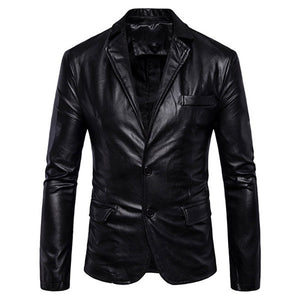 Solid Color Glossy Sheep Leather Jacket | Black Jack Leathers