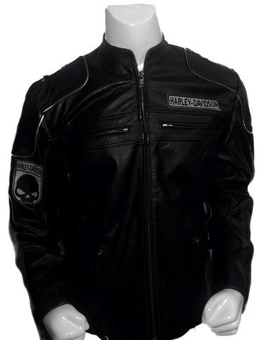 Black Harley Davidson Motorcycle Leather Jacket