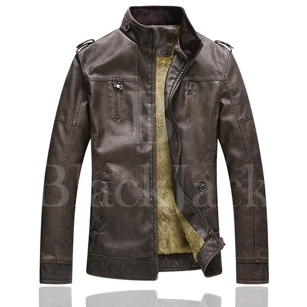 Vintage Faux Leather Biker Jacket|BlackJack Leathers