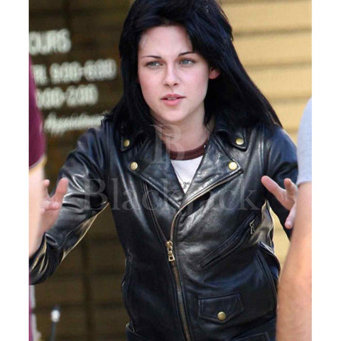 Kristen Stewart|The Runways sheep leather jacket