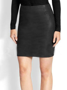Classic Pencil Leather Skirt | Black jack leathers
